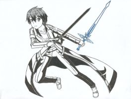 Kirito (Sword Art Online) by Hahc3Shadow