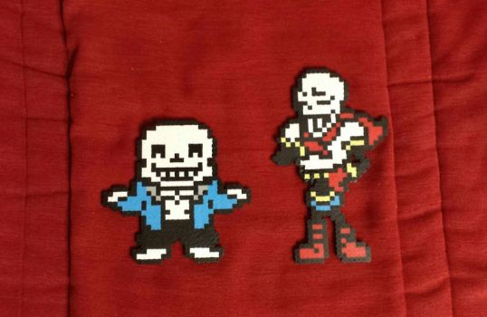Sans and Papyrus Perler Magnets by PracticallyGeeky