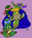 TMNT Pizza Party by Arcane-Panda
