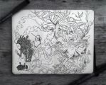 #77 Man VS Nature by 365-DaysOfDoodles