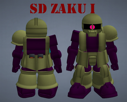 SD Zaku I by lordvipes