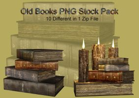 Old Books PNG Stock Pack by Roys-Art