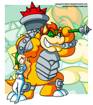 Commission - HS Bowser and Biker Rosalina by JamesmanTheRegenold