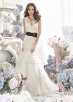 Mermaid Wedding Dress With Black Accents by whiteazalea