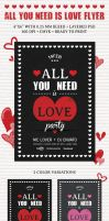 All You Need Is Love Flyer by PixelladyArt