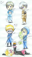 Chibi batch 2 Nordics by Midoromi