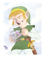 Link and the fairy by introvertedart