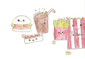 Kawaii Junk Food by chocodango