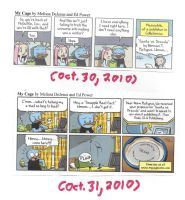 The final 2 My Cage comic strips from October 2010 by dth1971