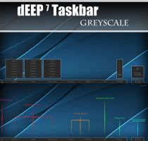 dEEP 7 Greyscale Taskbar for xWidget v1.2 by Cerbii