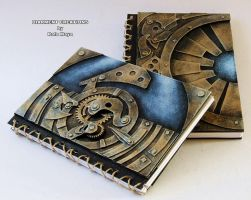 Steampunk Machinery Notebooks by Diarment
