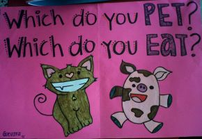 which do you pet? which do you eat? by malice-sensei