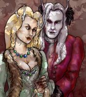 Shiera and Brynden by kethryn