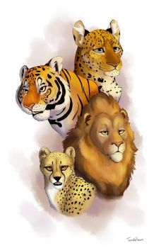 Big Cats Print by Simatra