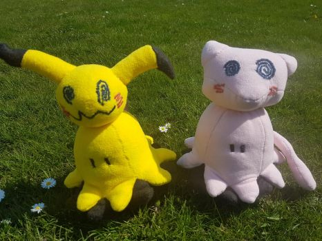 Mimikyu plushies (FOR SALE) by Crystal-Dream