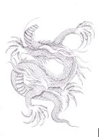 Dragon Body Tattoo Design by DanielleHope