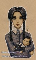 Copic Marker Wednesday Addams by LemiaCrescent