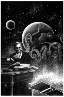 H.P. Lovecraft by blindbild