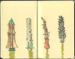 Rockets through the ages by MattiasA