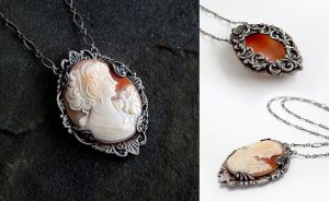 Cameo Swirl Necklace by Gweyeni
