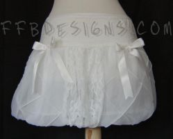 White fairy balloon skirt by funkyfunnybone