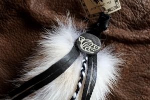 Detail of Arctic wolf tail by lupagreenwolf