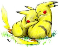 Pikachus in Love by MiyaYoshi
