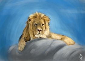 Lion speedpaint by crabskiller