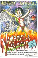 Vampirella of Draculon sketch card puzzle by andypriceart