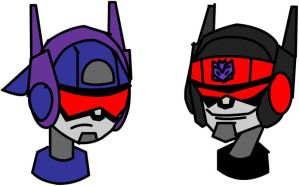 TF:A Rumble and Frenzy - Heads by GeneralTekno