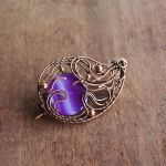 Paisley copper brooch by WhiteSquaw