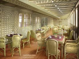 Cafe Parisian of Titanic by novtilus