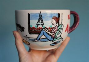 A cup full of illustration by Kirschpraline