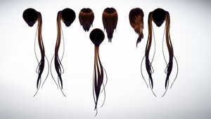 MMD Hair backs pack 1 by amiamy111