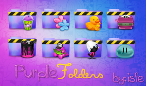 Purple Folders by Isfe