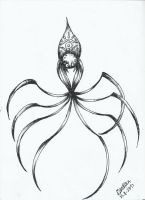 mini spider by MichellCards