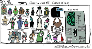 Government sacrifice by MessyPaperCut