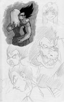 Dragonball Sketches 7 by ellensama