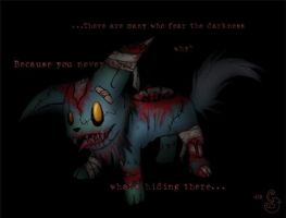 Scraby - The Zombie Fox by Sting-Chameleon