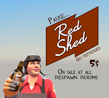 Red Shed Poster by PrincessBloodyMary