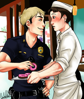 Baker Marco and Cop Jean by uberchicken