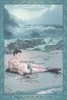 Aquamarine Gemstone Meditation Card by karadin