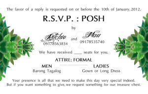 Mic-Cris Wedding-RSVP by stinglacson