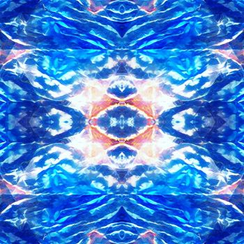 Pink and blue by endomentalArtistry