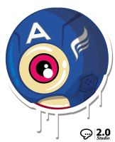 CAPTAIN AMERICA THE FIRST EYE-VENGER by dblackhand
