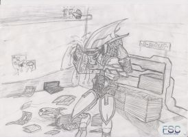 Sangheili from Halo game series by o-FSC-o