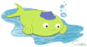 A Fish Wearing a Hat by CaptainFish