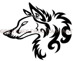 Wolf Tattoo- Tribal by GreyeWolf