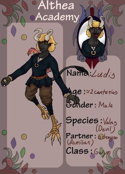 [AA] student application- Ludis by CuriousDragonChild
