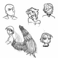 character sketches by camio105